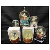 (6) Disney Jiminy Cricket Snow Globes