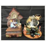 (2) Large Disney Jiminy Cricket Snow Globes