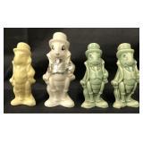 (4) 1940 Disney Jiminy Cricket Ceramic Figures