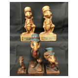 (5) Vintage Disney Jiminy Cricket Wood Figures