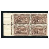 United States #234 Imprint Block of Four.