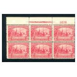 United States #329 Plate Block of Six.