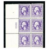 United States #426 Plate Block of Six NH.