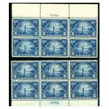 United States #616 Plate Blocks of Six (2)