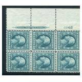 United States #339 Mint NH Plate Block of Six