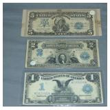 Large Currency Silver Certificate Lot.