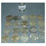 Peace Dollar Lot of Twenty