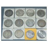 (12) Morgan Silver Dollars