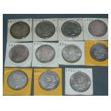 (11) Morgan Silver Dollars