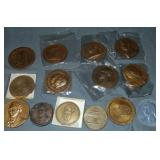 Bronze Medallion Lot.