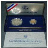 United States Constitution Gold Coin.