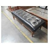 Black Leather Foot Board Bench