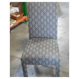 Upholstered Side Chair - Tan - Grey - Blk -( 21 x