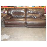 Leather -  Electric Reclining Sofa - Dk Brn - (92x