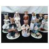 Ceramic Woodmice Family Figurines