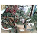 Christmas Berry Shrub Decor
