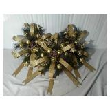Gold Trimmed Christmas Wreaths