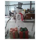 Pre-Lit Snowman & Presents