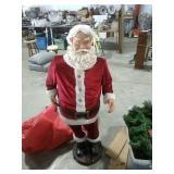 Singing Karaoke Santa