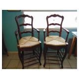 2 High Back Wicker Chairs