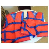 4 Adult Life Jackets