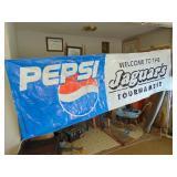 Jaguars Tournament PEPSI Banner- 9.5 feet x 3 feet