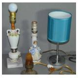 """(4) SMALL LAMPS - 12"""", 11"""", 9 1/2"""", 6"""""""