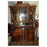 APOTHECARY STYLE CHINA CABINET WITH MIRRORBACK,