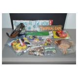 LARGE SELECTION OF CRAFT SUPPLIES-COLORED GLASS