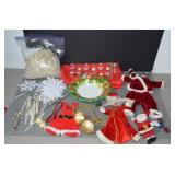 ASSORTMENT OF CHRISTMAS ITEMS - TABLE CLOTH,