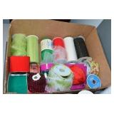 (2) BOXES: ASSORTED RIBBON & NETTING