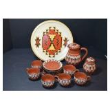 GROUPING OF ASSORTED POTTERY- MINI PITCHER, CUPS