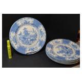 SELECTION OF DINNER PLATES, BLUE & WHITE TRANSFER