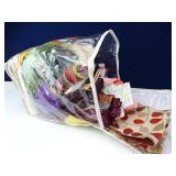 Bag Full of Assorted Colorful Sewing Fabrics