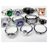 Miscellaneous Silver-colored Costume Rings