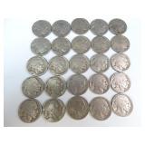 (25) Buffalo Nickels