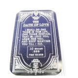 10g Silver Bar - Oath of Love