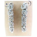 Sterling Silver Interlocking Hoops Dangle Earrings