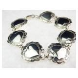 Sterling Silver Concho Link Bracelet