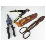 Tin Snips & Belt Tree Trimming Hand Saw & Knife +