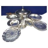 Silver-Plated Chafing Dish Set & Silver-Plate +