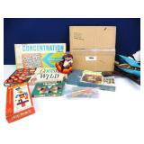 Vintage Board Games & Stuffed Doll