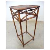 "Aluminum ""Bamboo & Wicker"" Table"