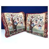 Birdhouse Throw Pillows