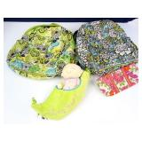Quilted Canvas Backpacks, Wallet and Sweet Pea +