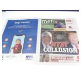 "Trump ""No Collusion""  Headline NY Metro Newspaper"