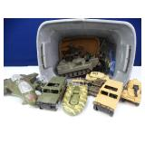 Assorted Vintage Army Toys