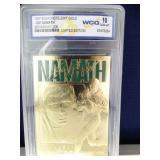 Limited Edition 23KT Gold Joe Namath Card
