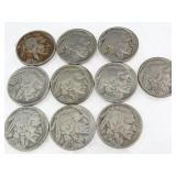 Buffalo/Liberty Nickels: 1927-1938 (10)
