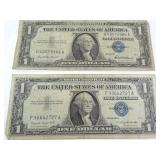 $1 Silver Certificates: 1957 (2)